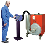 08549620 Urządzenie filtrowentylacyjne do oczyszczania powietrza z suchych i grubych pyłów bez ramion odciągowych ROBUST-1000 (pojemność szuflady: 39 dm3, moc: 0,75 kW, wydajność: 1100 m3/h)