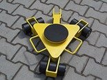 12258869 Wózek rotacyjny z płytą obrotową, rolki: 9x nylon (nośność: 3 T)