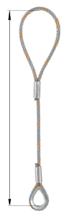 33948335 Zawiesie linowe jednocięgnowe zaciskane tulejkami cylindrycznymi miproSling Typu F1k (udźwig: 33,5 T, wymiary pętli: 900/450 mm, średnica liny: 56 mm, długość liny: 1 m)