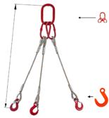 33948428 Zawiesie linowe trzycięgnowe miproSling FW 52,0/37,0 (długość liny: 1m, udźwig: 37-52 T, średnica liny: 48 mm, wymiary ogniwa: 400x200 mm)