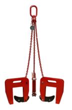 33954997 Zawiesie łańcuchowe 3-cięgnowe zakończone uchwytami do podnoszenia kręgów betonowych GDA 1,6 (udźwig: 1,6 T, zakres chwytania: 40-140 mm)