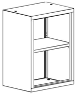 99551723 Nadstawka do regału zamkniętego, 1 półka (wymiary: 810x600x435 mm)