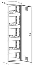 99552531 Szafa warsztatowa, 4 półki, 2 drzwi (wymiary: 1950x500x500 mm)
