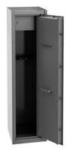 99552647 Szafa do przechowywania broni, 1 drzwi, 1 skarbczyk, przystosowana na 5 szt. broni długiej (wymiary: 400x450x1500 mm)