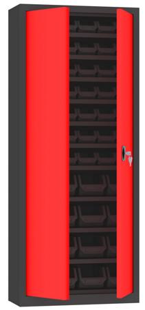00141985 Szafa narzędziowa pojemnikowa, 2 drzwi (wymiary: 1680x700x300 mm)