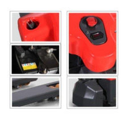 DOSTAWA GRATIS! 00546292 Wózek paletowy z napędem elektrycznym i ręcznym podnoszeniem (udźwig: 1500 kg, długość wideł: 1150 mm, wysokość podnoszenia: 200 mm)