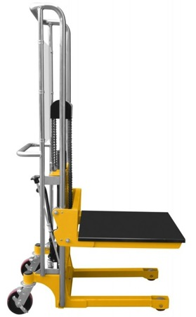 DOSTAWA GRATIS! 02872518 Masztowy wózek paletowy/platformowy (udźwig: 400 kg, długość platformy/wideł: 650mm, wysokość podnoszenia: 1300mm)
