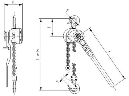 DOSTAWA GRATIS! 2209140 Wciągnik dźwigniowy, rukcug z łańcuchem ogniwowym RZC/3.2t (wysokość podnoszenia: 5,5m, udźwig: 3,2 T)