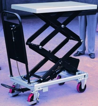 DOSTAWA GRATIS! 310565 Ruchomy stół podnośny (udźwig: 300 kg, wymiary platformy: 1010x520 mm, wysokość podnoszenia min/max: 435-1585 mm)