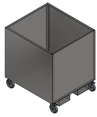 DOSTAWA GRATIS! 35972798 Kontener z demontowanym frontem i z kołami do wózka widłowego (wymiary skrzyni: 900x998 mm)