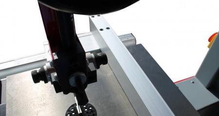 DOSTAWA GRATIS! 44349940 Piła taśmowa Holzmann 400V (wymiary obrabianego przedmiotu: 380/220 mm, wymiary blatu: 500x400 mm)
