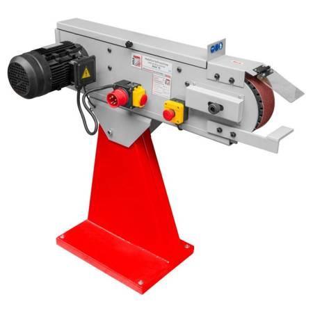DOSTAWA GRATIS! 44350099 Szlifierka taśmowa do metalu Holzmann (wymiary taśmy: 2000x75 mm, prędkość taśmy: 34 m/min, moc: 4,5 kW)