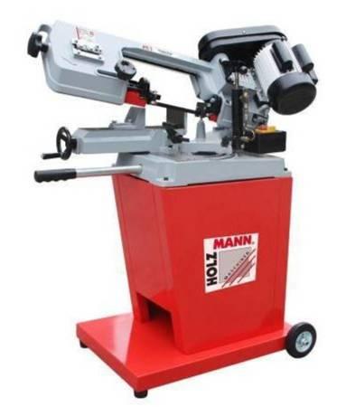 DOSTAWA GRATIS! 44353109 Piła taśmowa do cięcia metalu Holzmann 230V (prędkość cięcia: 20-29-50 m/min, wymiary taśmy: 1638x0,6x13 mm, moc: 0,6 kW)