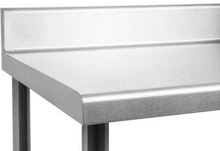 DOSTAWA GRATIS! 4564346 Stół roboczy ze stali nierdzewnej z kantem Royal Catering (wymiary: 70 x 120 x 96,4 cm)