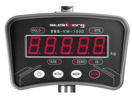 DOSTAWA GRATIS! 45674863 Waga hakowa Steinberg Systems - 200 g - LED - aluminium (udźwig: 1000 kg)