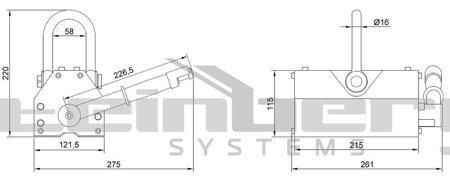 DOSTAWA GRATIS! 45674880 Podnośnik magnetyczny Steinberg Systems (udźwig: 600 kg)