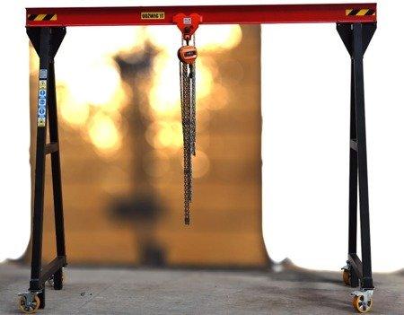 DOSTAWA GRATIS! 72574598 Wciągarka bramowa, łańcuchowa, suwnica, wciągnik (udźwig: 1000 kg, max szerokość konstrukcji w świetle: 3,1m, max wysokość do haka: 1,7m)