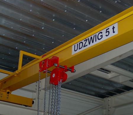 DOSTAWA GRATIS! 9588156 Wciągnik łańcuchowy przejezdny (udźwig: 1,0 T, wysokość podnoszenia: 3m, zakres toru jeznego: 66-106 mm)