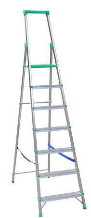 DOSTAWA GRATIS! 99674665 Drabina wolnostojąca Drabex 6 stopniowa z półką i haczykiem (wysokość robocza: 3,29m)