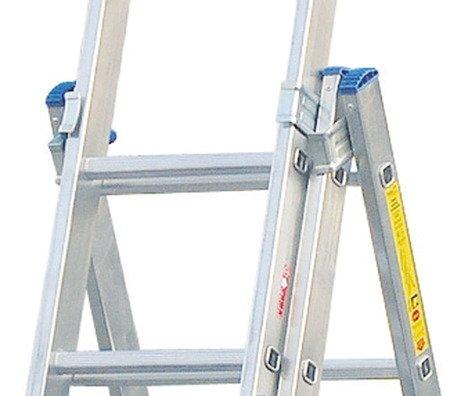 DOSTAWA GRATIS! 99674948 Drabina aluminiowa 3x14 Drabex na schody (wysokość robocza: 10,90m)