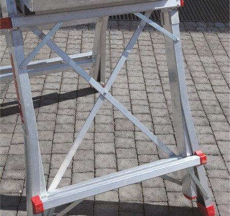 DOSTAWA GRATIS! 99675038 Drabina magazynowa jezdna FARAONE z wejściem jednostronnym (wysokość robocza: 3,10m)