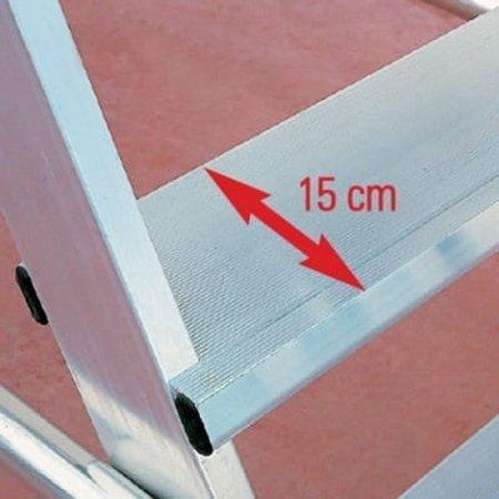 DOSTAWA GRATIS! 99675057 Drabina magazynowa jezdna FARAONE (wysokość robocza: 5,20m)