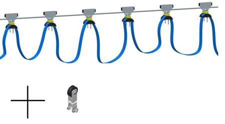 Firanka kablowa z wózkami na przewód zasilajacy - długość 5m 28876830