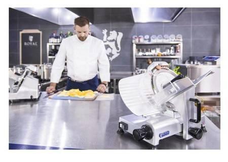Krajalnica elektryczna do wędlin, mięsa i serów Royal Catering (moc: 180W, średnica noża: 250mm, grubość cięcia: 0-12mm) 45643462