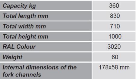 SWARK Uchwyt do beczek na wózek widłowy GermanTech (udźwig: 360 kg) 99724857