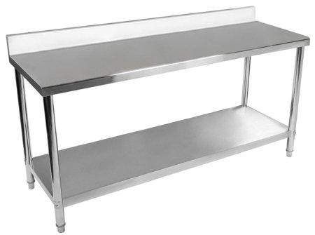 Stół roboczy ze stali nierdzewnej z kantem Royal Catering (wymiary: 60 x 200 x 96,4 cm) 4564344