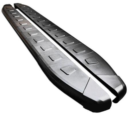 Stopnie boczne, czarne - Nissan X-Trail T32 2014- (długość: 171 cm) 01655956