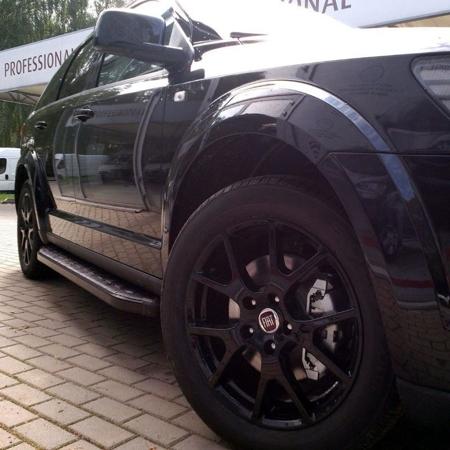 Stopnie boczne, czarne - Renault Trafic 2001-2014 long (długość: 252 cm) 01655966