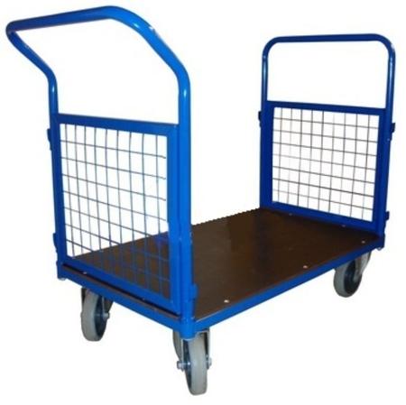Wózek platformowy ręczny osiatkowany (koła: pełna guma 200 mm, nośność: 600 kg, wymiary: 1200x700x500 mm) 13340622