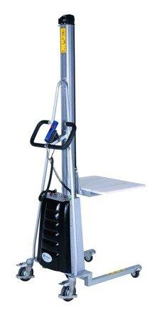 Wózek podnośnikowy z podestem elektryczny GermanTech (max wysokość: 1700 mm, udźwig: 100 kg) 99724814