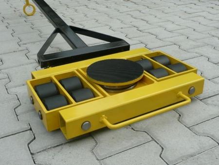 Wózek skrętny 8 rolkowy, rolki: 8x stal (nośność: 12 T) 12235604