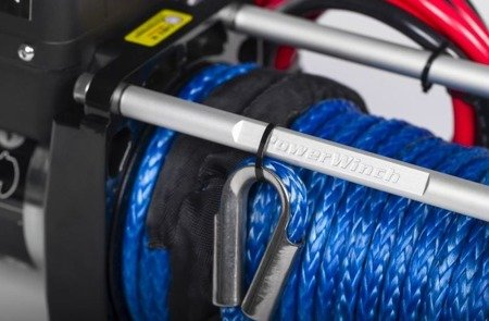 Wyciągarka 12V z liną syntetyczną (uciąg: 5442 kg, średnica liny: 10mm, długość liny: 27,4m) 44475989