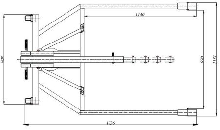 Żuraw hydrauliczny ręczny (paletowy, udźwig: od 500 do 1000kg) 6177829