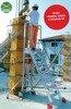 DOSTAWA GRATIS! 99675067 Drabina magazynowa 8 stopniowa FARAONE (wysokość robocza: 3,76m)